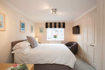 One of the double bedrooms is on the ground floor with an en suite