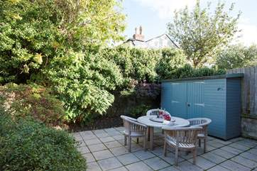 Secluded patio perfect for al fresco dining