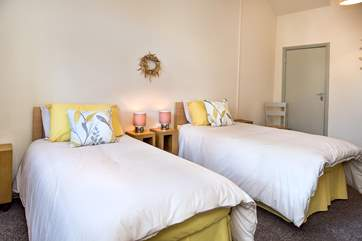 The cottage has two gorgeous bedrooms.