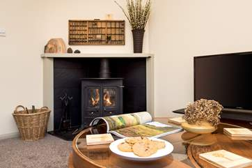 What could be better than after a day of adventures, coming back to relax in front of the woodburner - bliss.