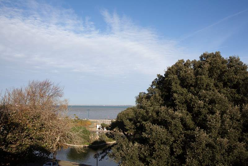 Wonderful views of the Solent across Appley beach where you can watch the cruise ships sailing by.