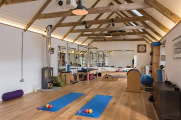 The fantastic Pilates studio, book before you come or ask the owner when you arrive about a class or fitness training during your stay.