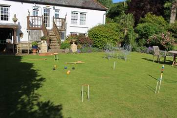Perhaps a rather traditional game of croquet is quite fitting. All equipment is supplied by reception.