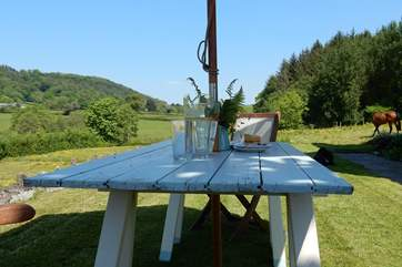 What a lovely spot to enjoy a good book and a glass of some tasty,