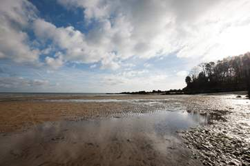 When the tide is low you can gain access into Priory Bay, ideal for swimming due to shallow waters.