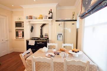 The Aga beats in the heart of the house, but there is also a gas cooker if needed.