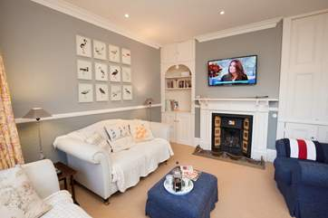 The second smaller sitting-room is to the front of the house and just the place to relax with a cuppa and a good book for some peace and quiet.