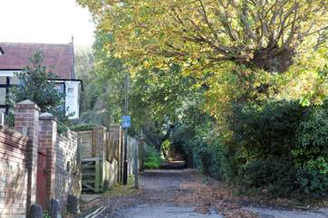 The road leading up to the Priory Bay Hotel or a cross country walk to the neighbouring village of St Helens.