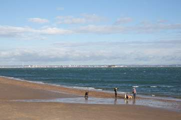 Take the family down to the beach, whether it be for summer swims or winter walks.