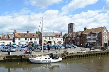 The quay at the nearby Saxon walled town of Wareham, gateway to the Jurassic Coast.