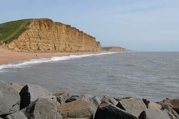 The cliffs at West Bay, where much of the series Broadchurch was filmed.