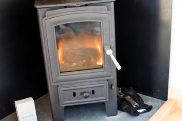 Keep toasty all year-round with the warming wood-burner.