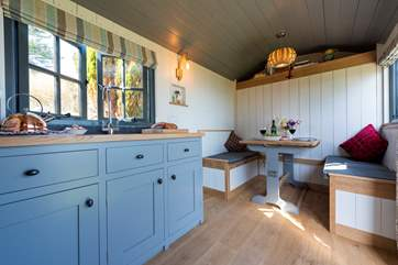 Copperas is complete with all you could need for a luxury glamping holiday.