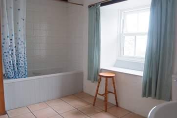 The bathroom on the ground floor.
