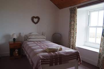 The single bedroom on the first floor.