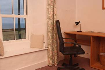 The first floor study/office, work from home whilst staring at the sea.