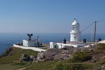 Pendeen Lighthouse, 400 yards away.