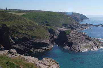 The view from the clifftop just 400 yards down the lane.