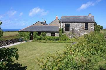 The Old Barn is set within a complex of holiday cottages.