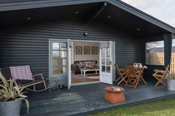 Furrow Lodge nestles into the hillside, enjoy the fabulous views from your verandah.