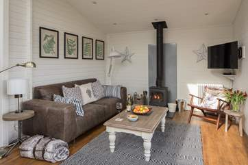 The wood-burner makes the whole space feel very snug.