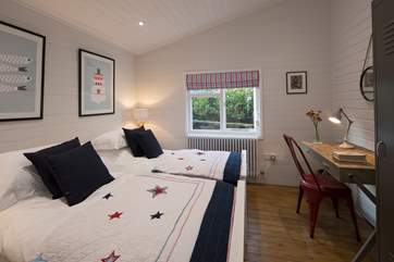 Bedroom 2 has 3ft twin beds and lovely linens.