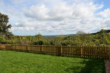 Views over unspoilt countryside from your garden.