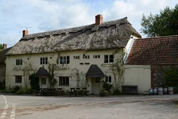 The Fox Inn, the local pub in Corscombe, is very welcoming and dog-friendly.
