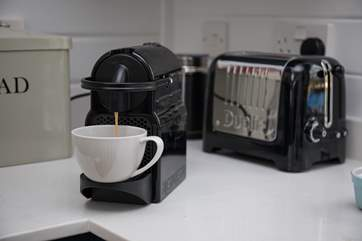 A little holiday indulgence; a few Nespresso pods are provided for your arrival.