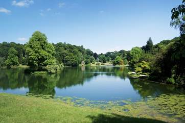 The National Trust's Stourhead House and Gardens are beautiful, especially in the spring when the azaleas and rhododendrons are in bloom.
