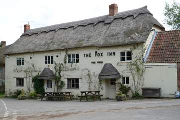 The Fox Inn in Corscombe is a traditional country pub and serves great food using locally-sourced produce.