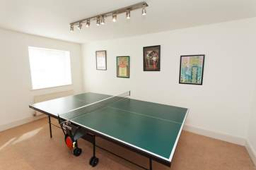 Not just for the children, the ping-pong table will keep anyone entertained! Best of three?