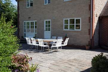 If the sun is shining, this is the perfect spot to dine al fresco.