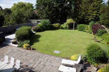 The lawn is a perfect space for children to run around and play.