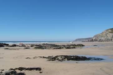Porthtowan beach is less than five minutes away.