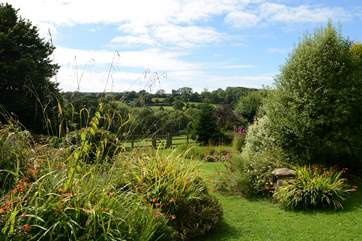 The garden is idyllic with lots of visiting wild birds.