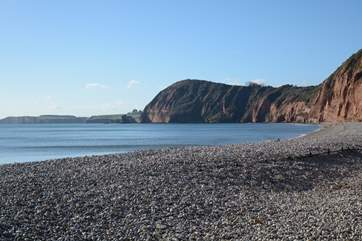 This spectacular part of the World Heritage Jurassic Coast at Sidmouth.