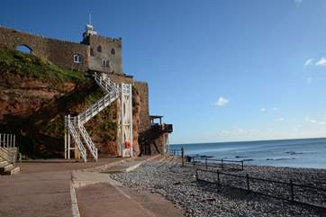 Jacob's Ladder at Regency Sidmouth on the Jurassic Coast is well worth a visit, with a great tea shop and restaurant to reward you at the top of the steps.