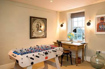The house also has an office should you need to do any work or study and there's also table football for some good old holiday fun.