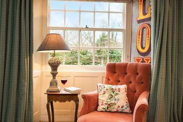 A lovely spot to sit and enjoy the Cornish sunshine streaming through the windows