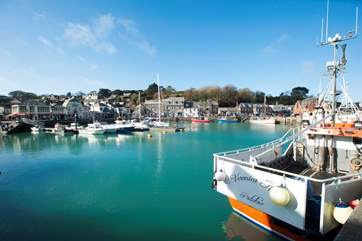The ever popular Padstow - join a boat trip, wander the pretty harbourside streets, enjoy award-winning food and spot celebrity chefs.