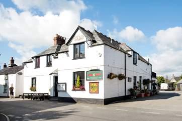 The village pub - the White Hart Inn.