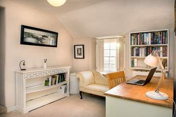 The spacious landing doubles up as an office should you need to catch up on any work or revision or a quiet space to curl up with a good book.
