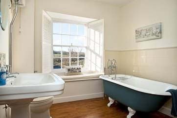 The family bathroom complete with a fabulous freestanding bath....