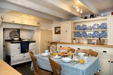 The kitchen/breakfast-room really is the heart of the home with its warming Aga and Farmhouse dresser.