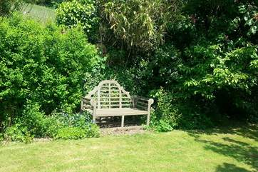 Enjoy a morning coffee or an evening sundowner on the Lutyens bench (please note the bench is not available during the winter months).