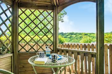 Enjoy a morning coffee whilst taking in the view