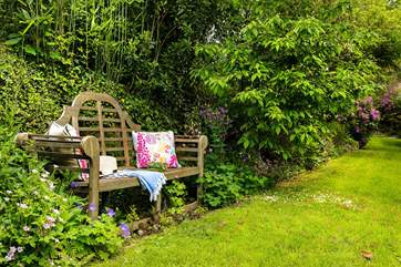 A quiet spot in the garden to curl up with a good book