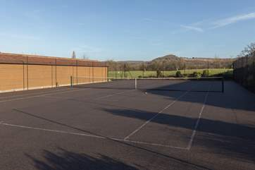 Outside the spa is this wonderful tennis court so do come prepared with tennis shoes and rackets.