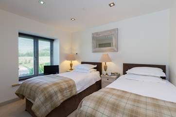 The twin bedroom is also on the first floor - all the bedrooms have plenty of storage in fitted wardrobes.